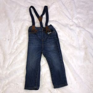 OshKosh like new denim with suspenders